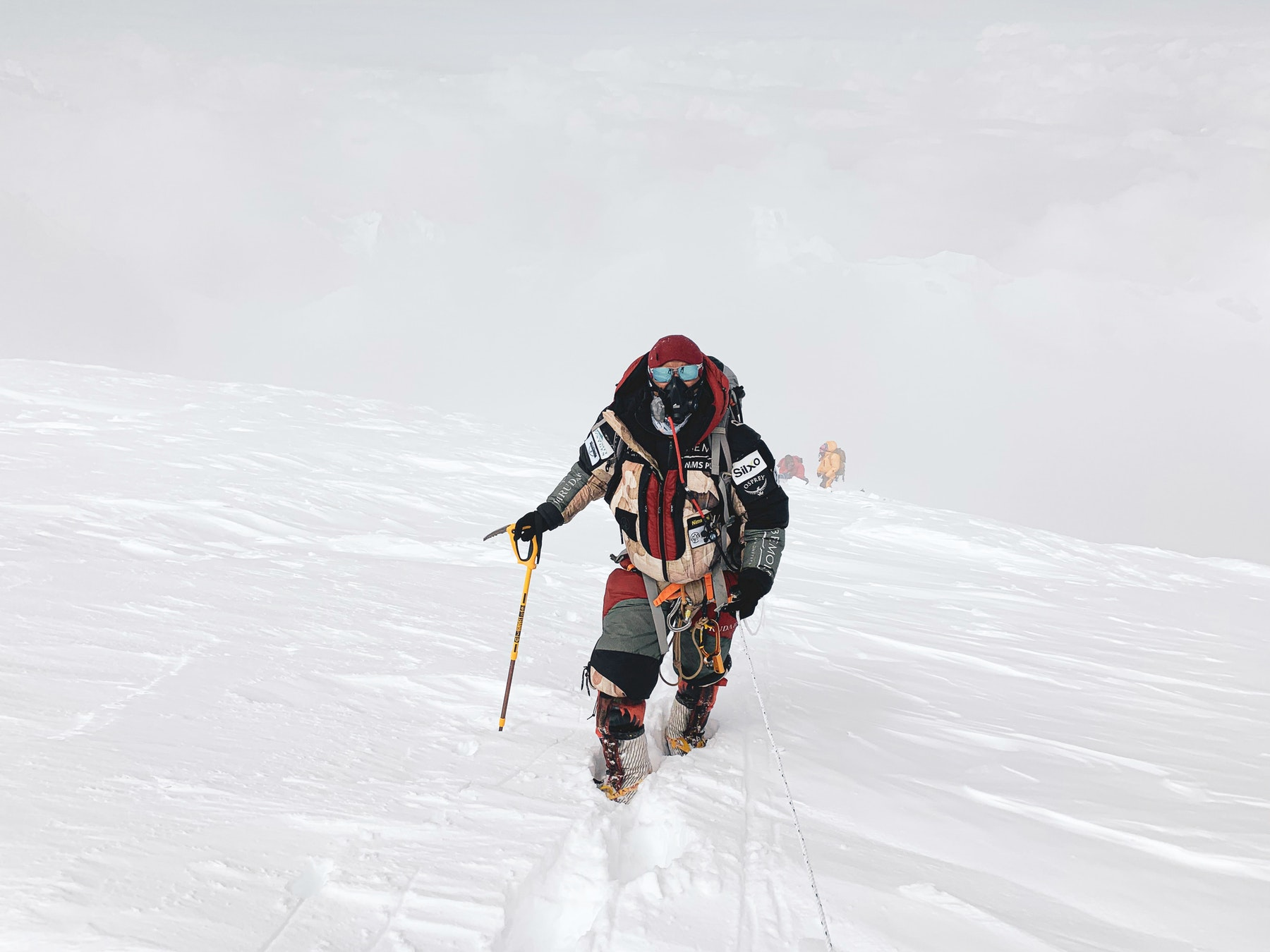 Nims on the way to the summit of Cho Oyu