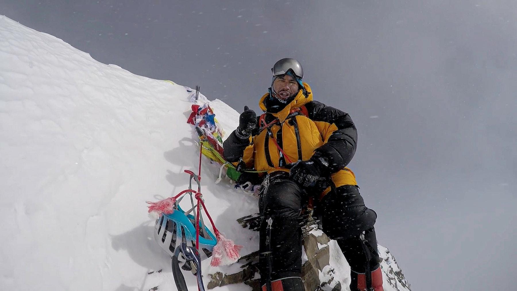 Nims on the summit of Lhotse 2017