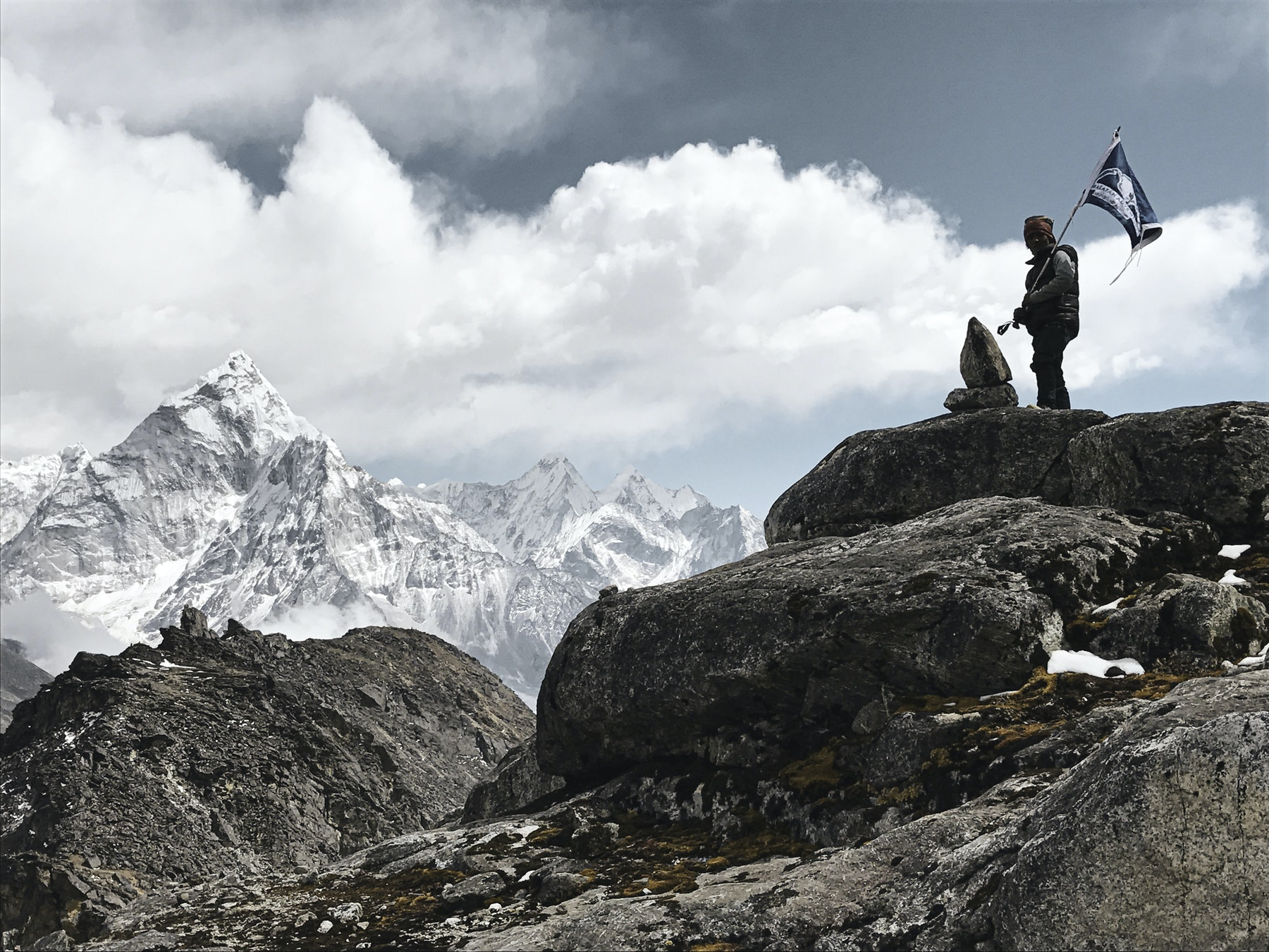 View of Himalayas from Lobuche camp