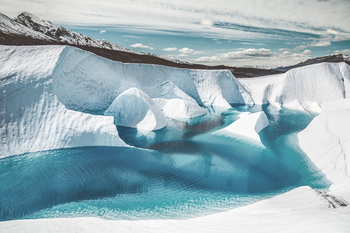 The pristine meltwater of the mountains