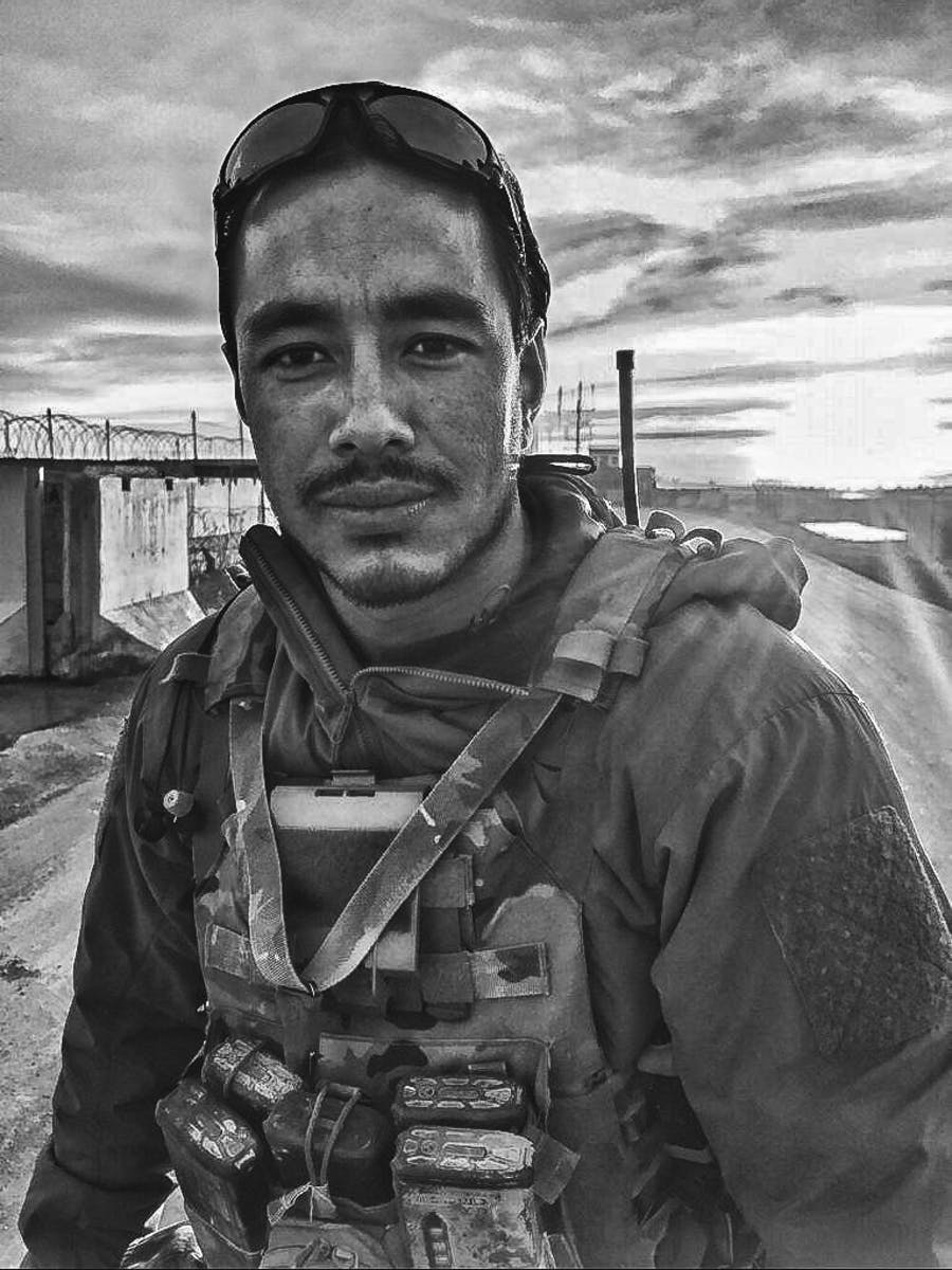 Nimsdai Purja MBE in combat gear on Special Forces duty