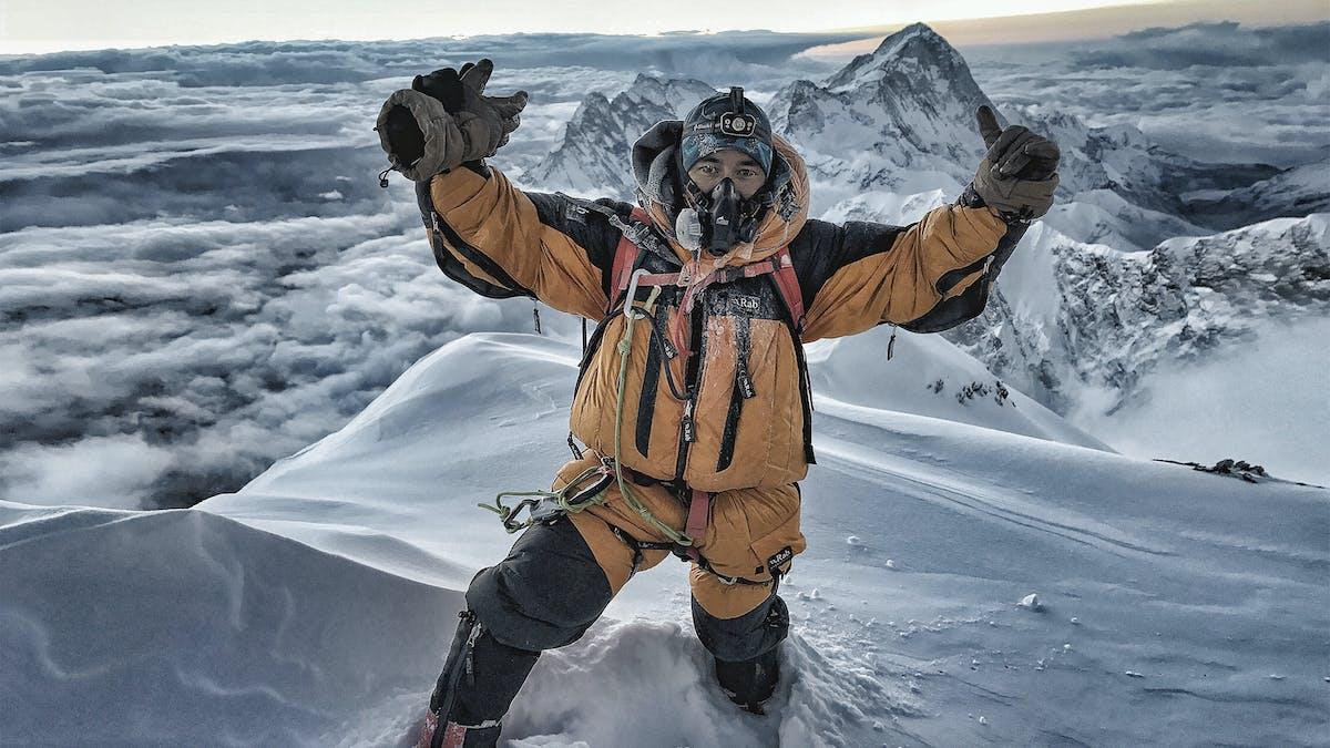 Nimsdai leading fixing team on Everest.