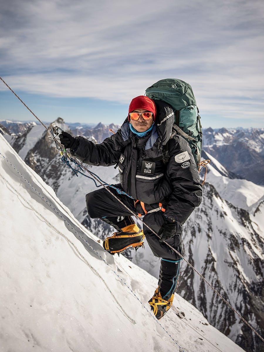 Mingma David Sherpa climbing K2