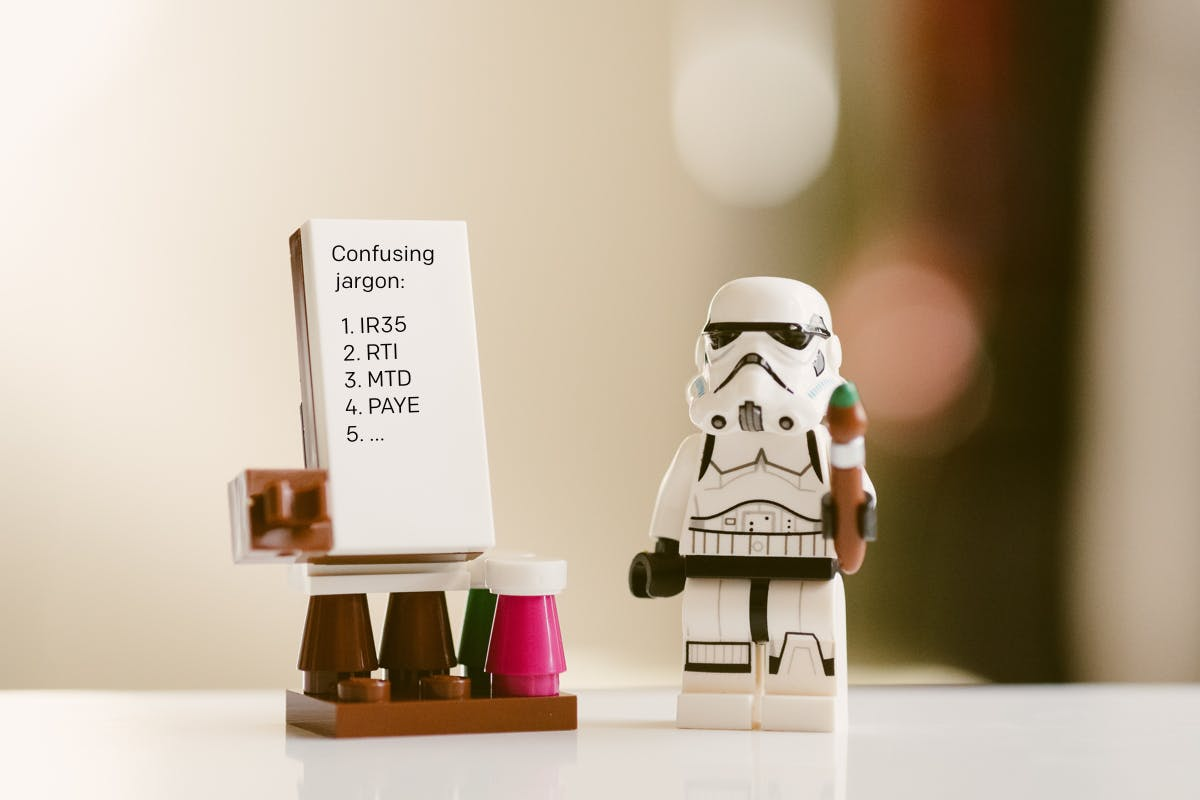 Storm Trooper with whiteboard teaching confusing jargon