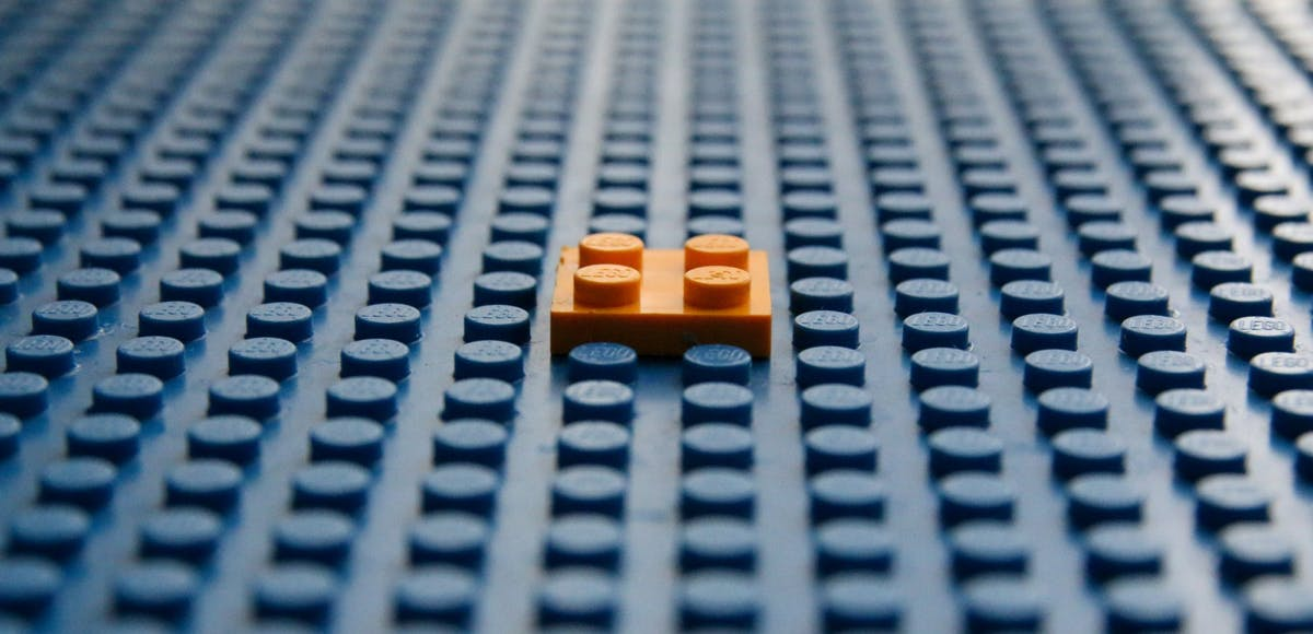 Lego signifying the first building block.