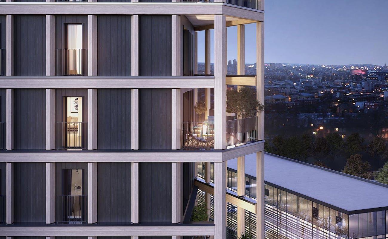 Vue de la façade du programme immobilier neuf Le Berlier à Paris 13