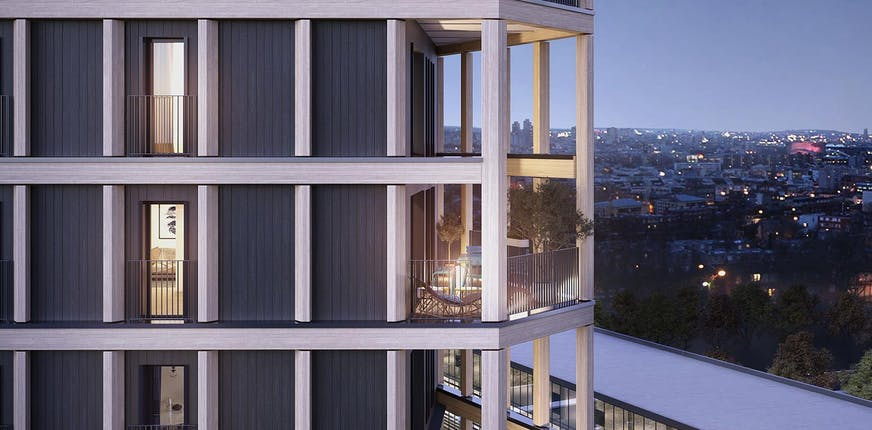 Le programme immobilier neuf en bois Le Berlier à Paris 13
