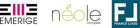 Triple logo Emerige - Neole - France logis