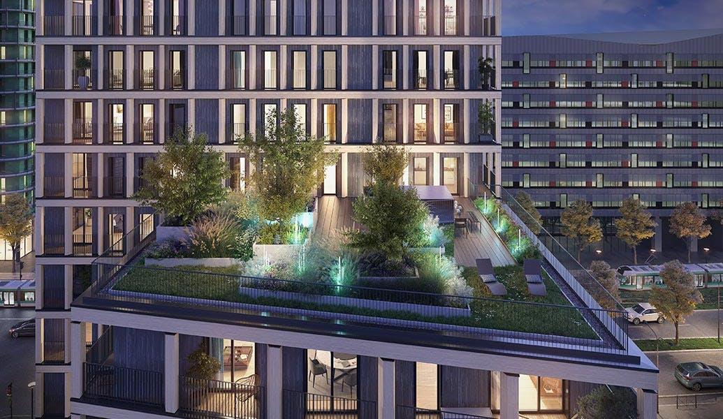 Le Berlier à Paris 13 : terrasse partagée
