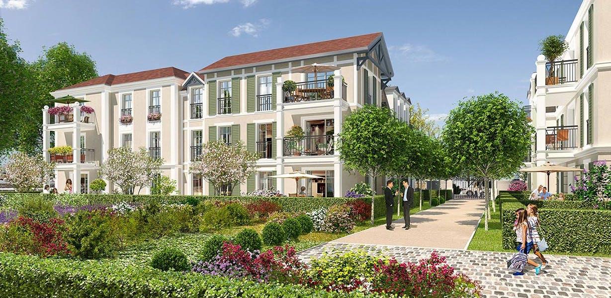 Avenue Lecomte à Villiers-sur-Marne : cœur d'îlot