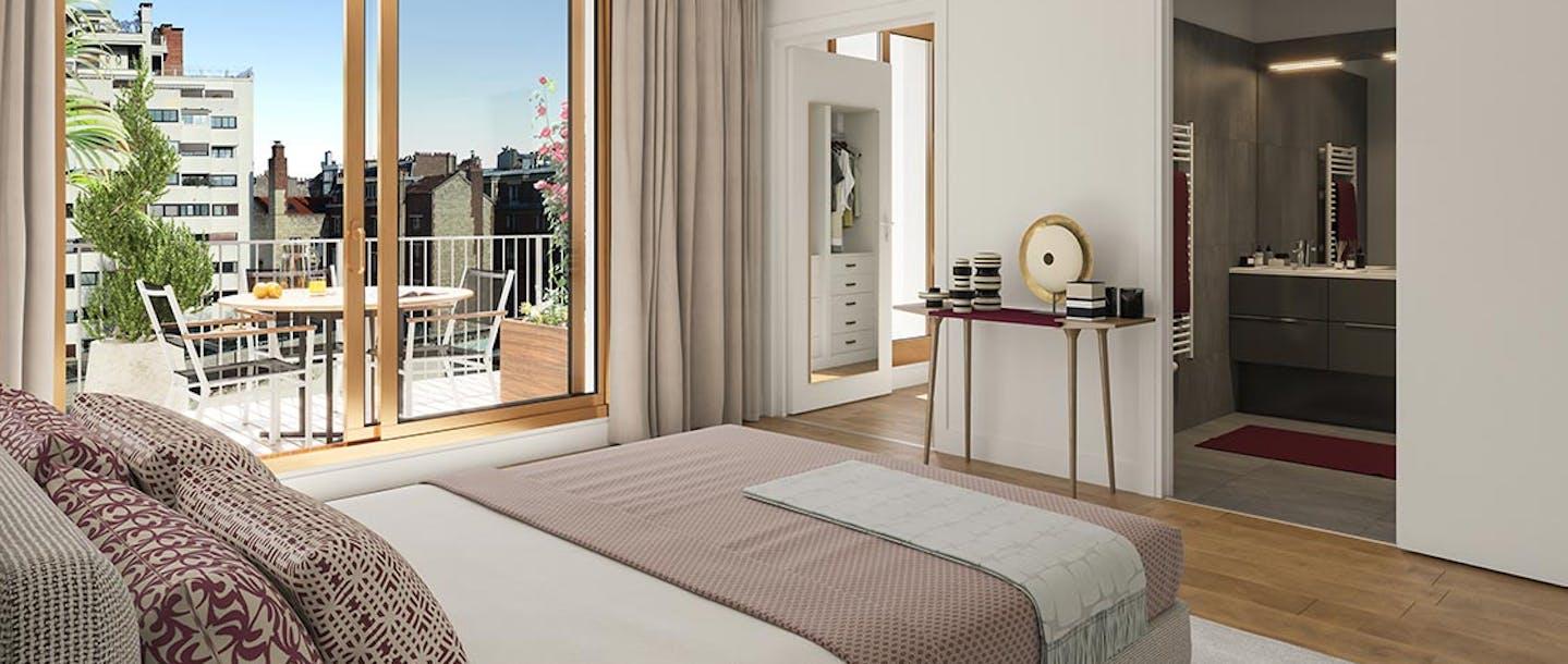 Chambre d'un appartement neuf des Ateliers Vaugirard à Paris 15