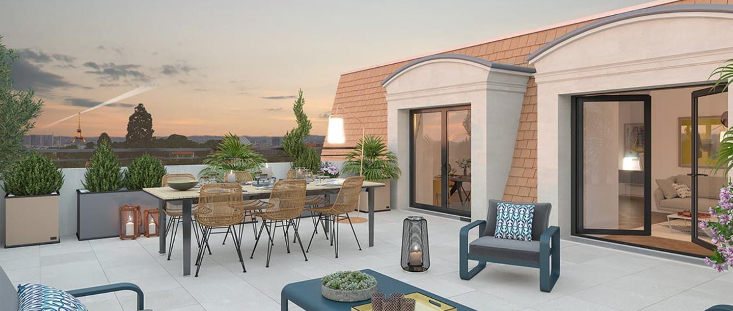 Appartement neuf avec terrasse à Clamart Place du Garde