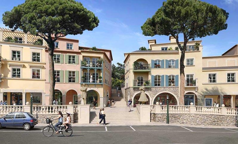 """Place et escaliers du programme immobilier neuf au Rouret """"Chemin des Comtes de Provence"""""""