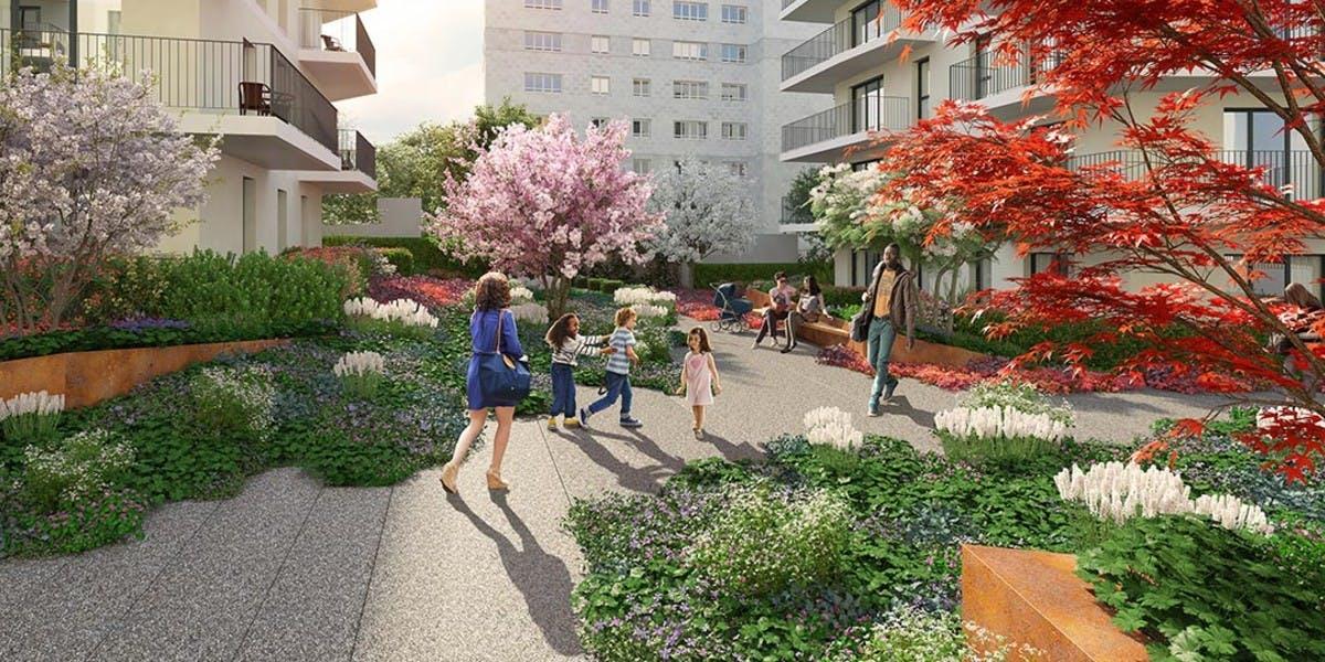 1 rue de Craïova à Nanterre : jardin