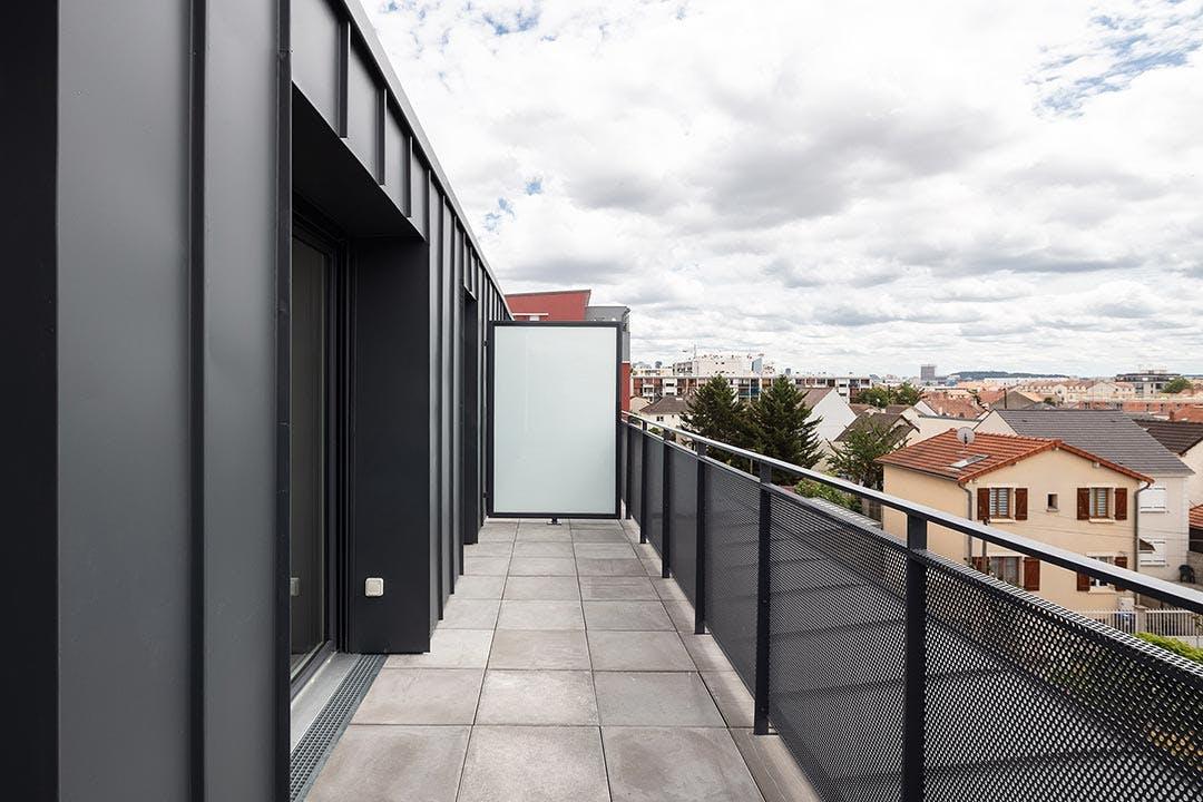 Appartement neuf prolongé d'un balcon dans la résidence 31-33 Avenue Gabriel Péri à Bezons