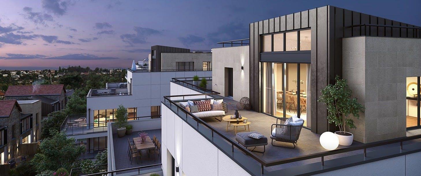 Terrasses du programme immobilier neuf 60 Avenue Didier à Saint-Maur