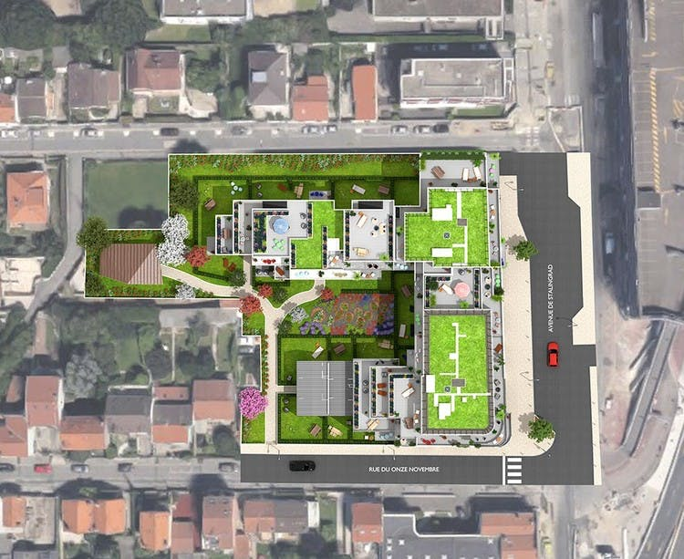 Terrasses d'Aragon à Villejuif : plan masse