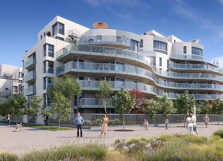Jardin paysager du programme immobilier neuf Carré de l'Arsenal