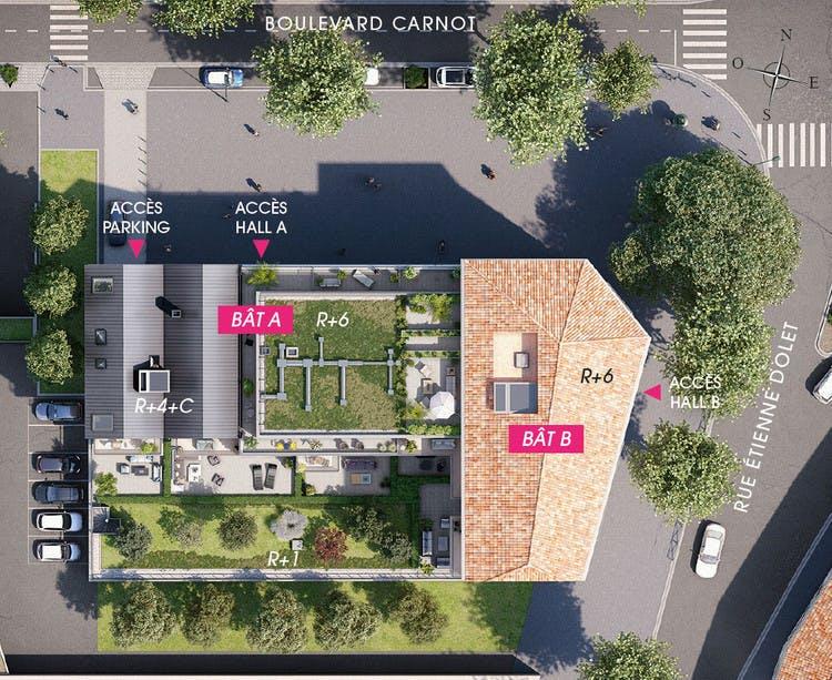 4 boulevard Carnot à Alfortville : plan masse