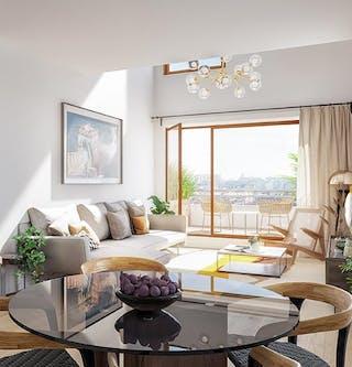 Appartement neuf du programme immobilier neuf Rue Claude Robert à Gennevilliers