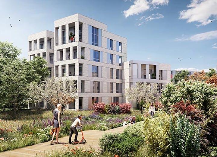 Jardin intérieur du programme immobilier neuf Allée du Colonel Fabien à Nanterre