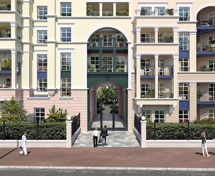 Porche du programme immobilier neuf 18 Avenue Edouard Herriot au Plessis-Robinson