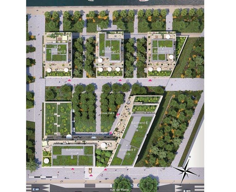 Plan masse du programme immobilier neuf Paris Canal - 165 Rue de Paris à Bobigny