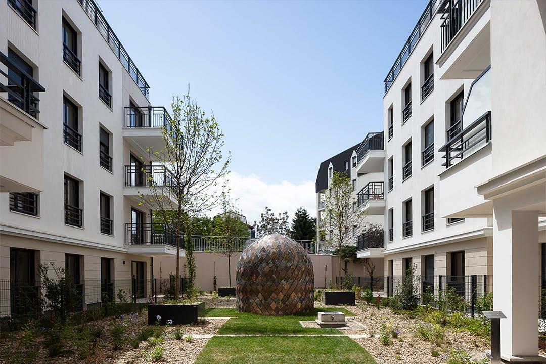 1 immeuble, 1 oeuvre au sein du programme immobilier neuf 23-31 rue Jean Pierre Timbaud à Chatillon