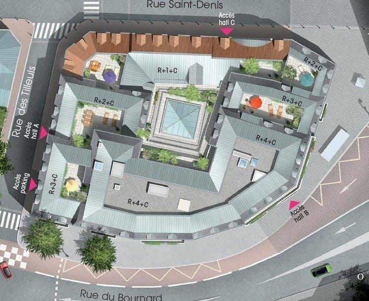3 rue Saint-Denis à Colombes : plan masse