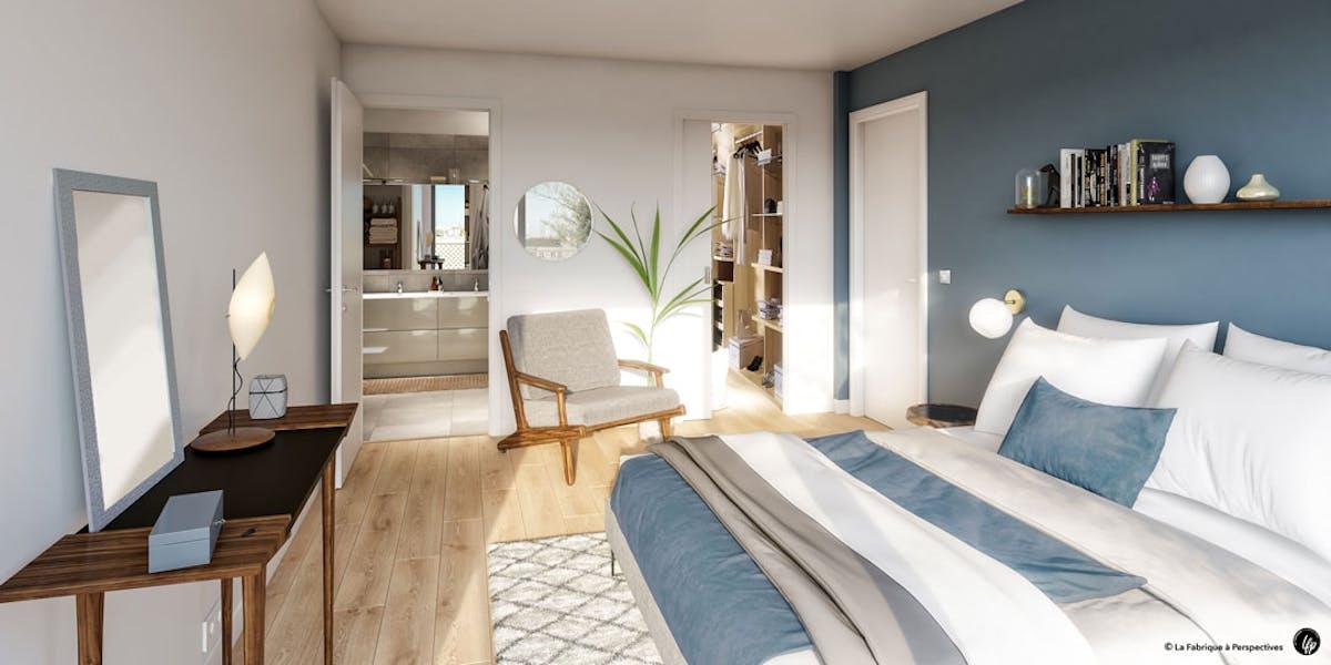 Chambre d'un appartement du programme immobilier neuf Ateliers Vaugirard chapitre 1 à Paris 15