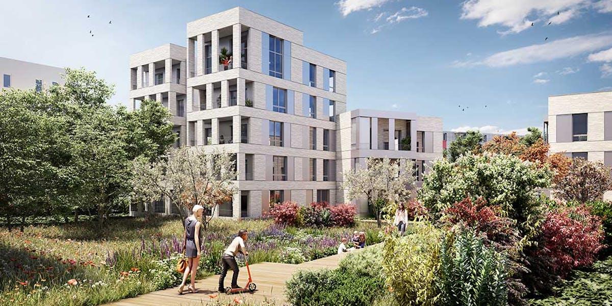 Jardin du programme immobilier neuf à Nanterre Allée du Colonel Fabien