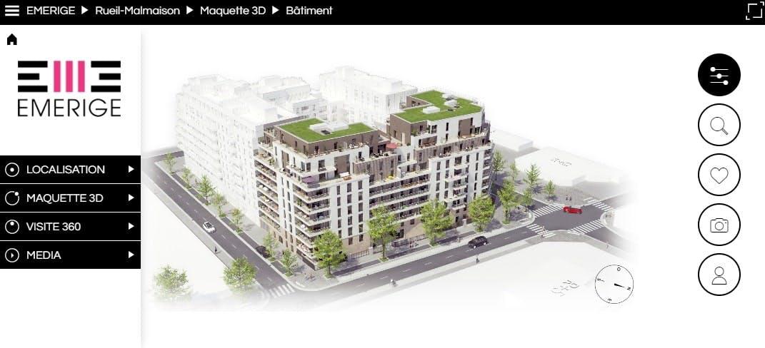 Aperçu de la maquette orbitale du programme immobilier neuf à Rueil-Malmaison 6 Rue Paul Héroult