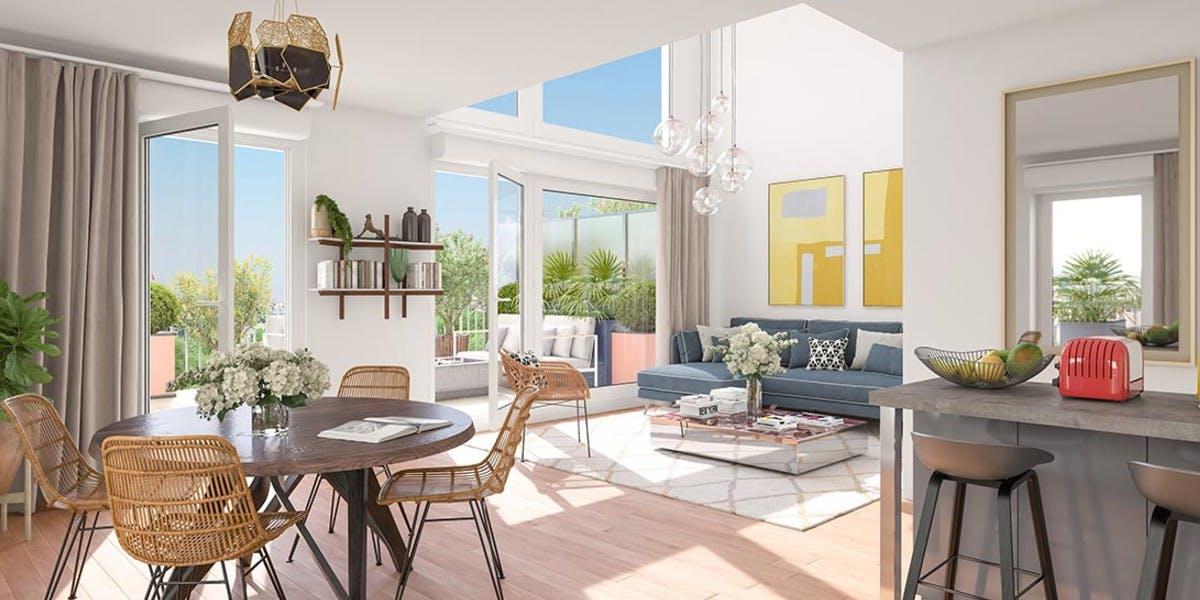 Appartement duplex du programme immobilier Paris Canal à Bobigny