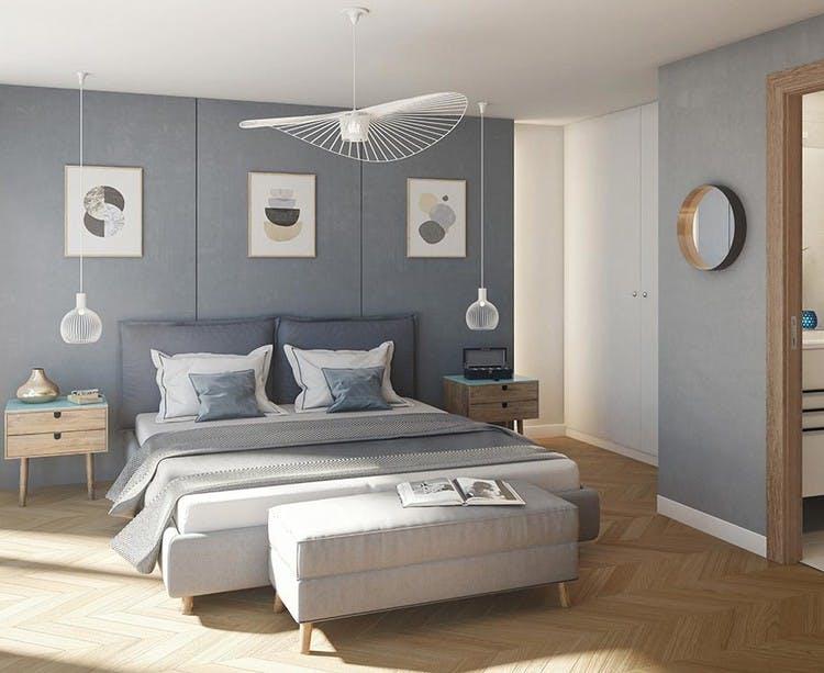Rue Agrippa d'Aubigné  à Paris 4 (Morland) : chambre
