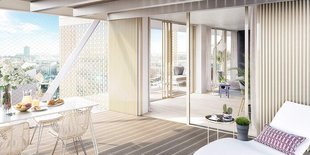 Terrasse d'un appartement du programme immobilier neuf Ateliers Vaugirard chapitre 1 à Paris 15
