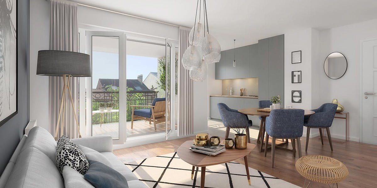 Appartement au 2e étage du programme immobilier neuf 31 rue Fernand Forest