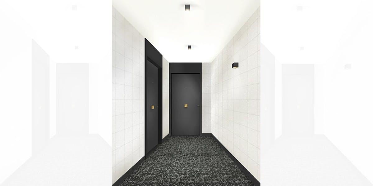 Rue Vladimir Kramnik à Asnières-sur-Seine : palier d'étage MEDIAS
