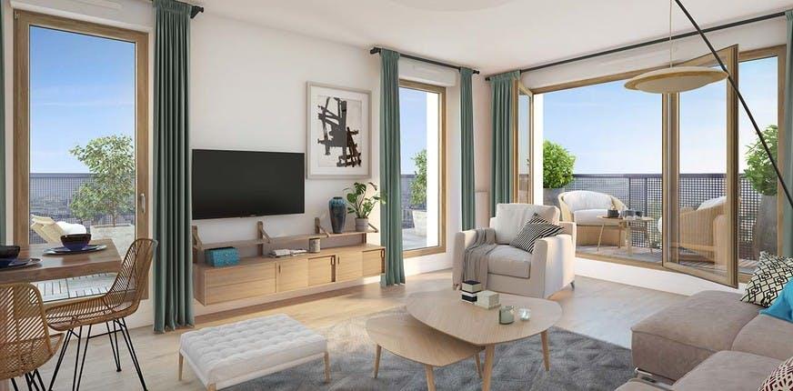 Les Allées Maria Casarès à Gennevilliers : appartement
