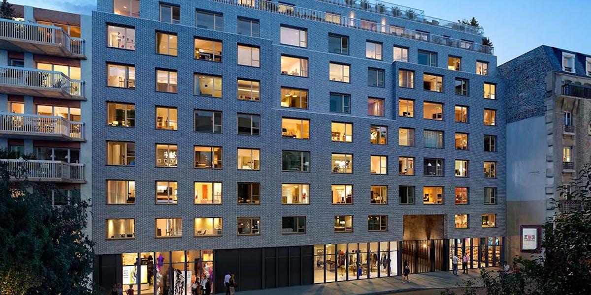 Rue Petit à Paris 19 : résidence de nuit MEDIAS
