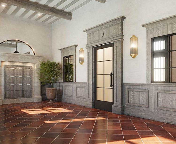 """Hall d'entrée du programme immobilier neuf au Rouret """"Chemin des Comtes de Provence"""""""
