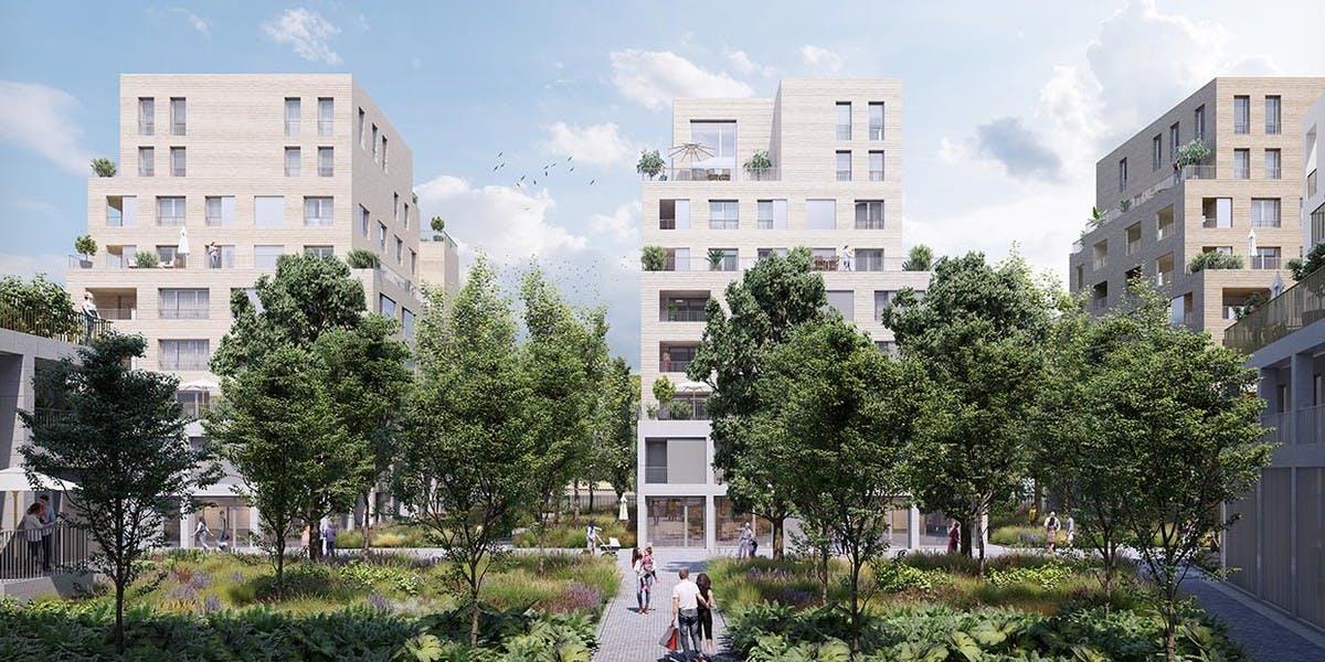 Coeur d'îlot du programme immobilier neuf Paris Canal - 165 Rue de Paris à Bobigny