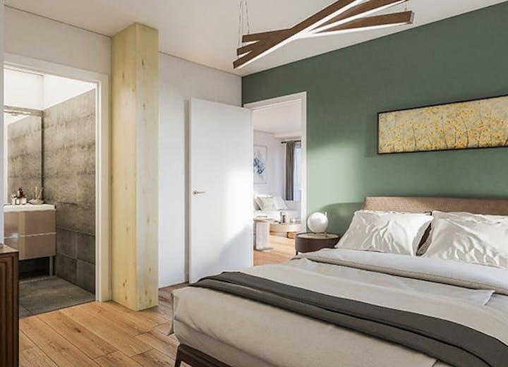Chambre d'un appartement du programme immobilier Le Berlier à Paris 13