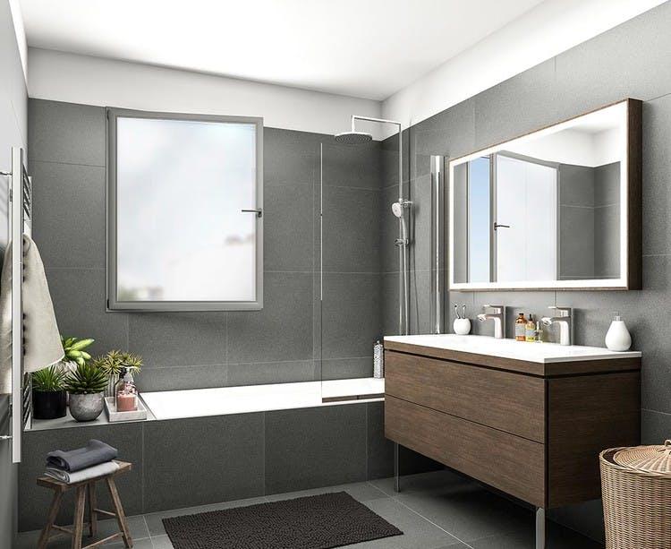 Passage Oberkampf à Paris 11 : salle de bains
