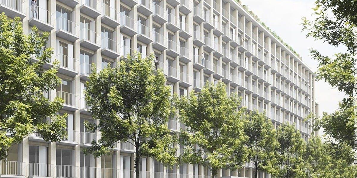 Programme immobilier à Paris 4 vu depuis la Rue Agrippa d'Aubigné