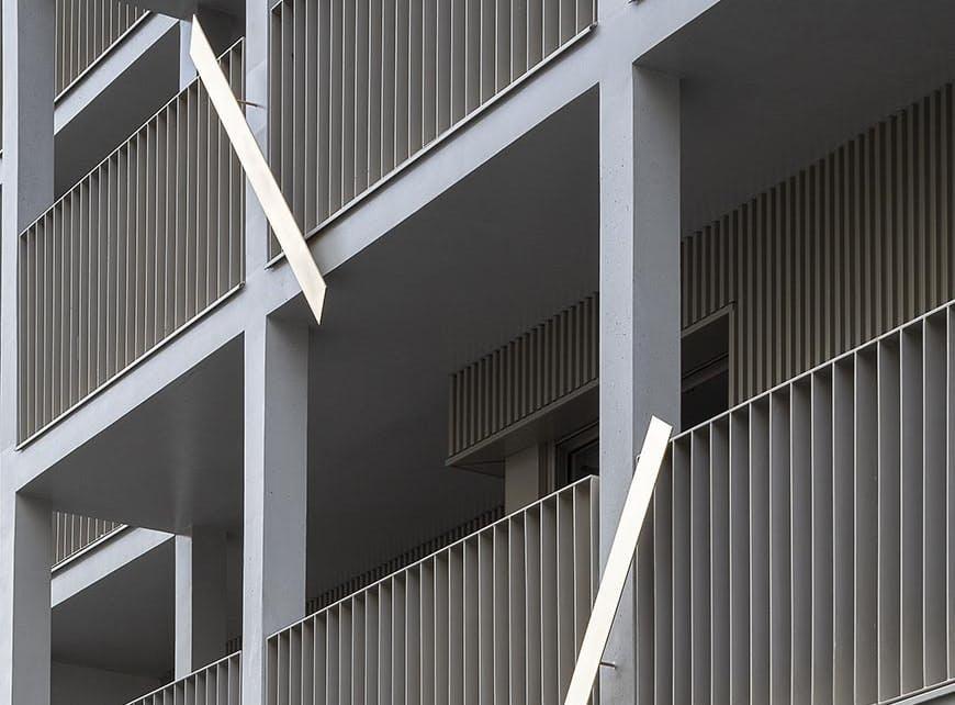 Oeuvre d'art en façade du programme immobilier neuf 5 rue Erard