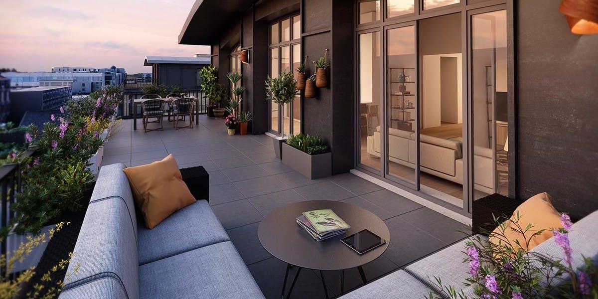 Quartier des Arts à Puteaux : terrasse