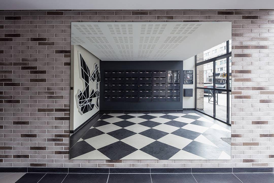 Hall d'entrée du programme immobilier neuf à Bezons 31-33 Avenue Gabriel Péri