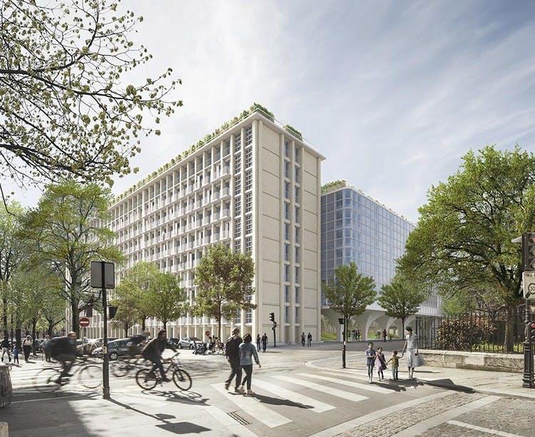 Programme immobilier Rue Agrippa d'Aubigné à Paris 4 vu depuis la rue de Schomberg