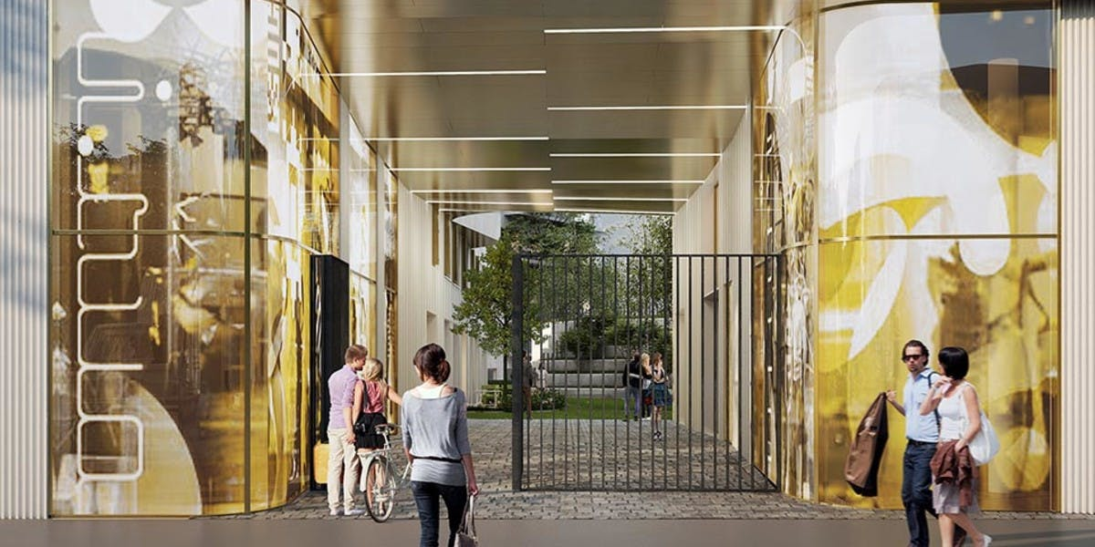 Porche d'entrée du programme immobilier neuf Place Félix Eboué à Paris 12