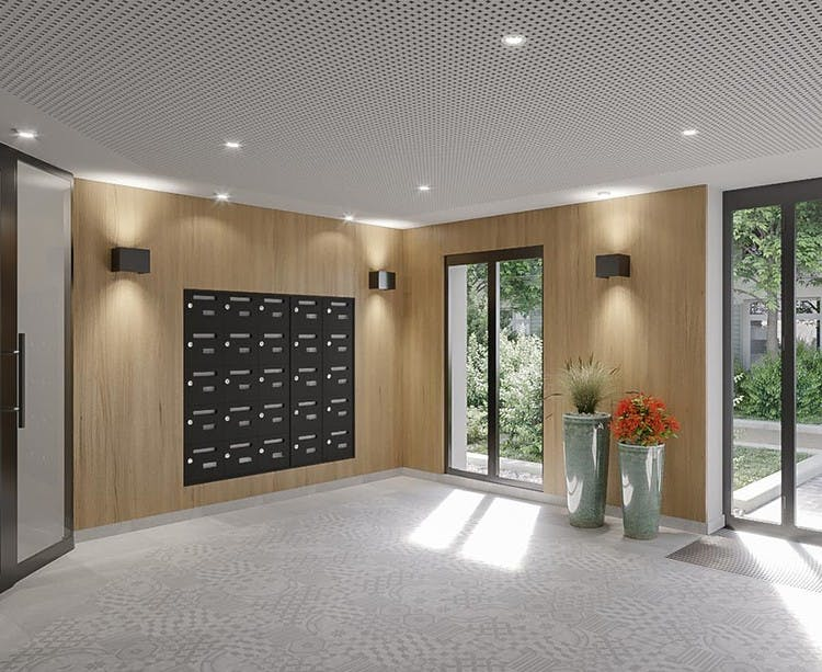 Avenue Lecomte à Villiers-sur-Marne : hall d'entrée